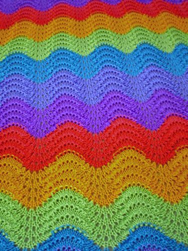 Blanket Uses Partial 5 Oz Skeins For The Colors And 3 Skeins Of The