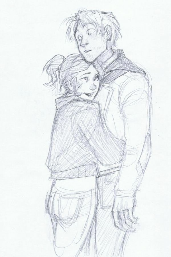 40 Romantic Couple Hugging Drawings and Sketches – Buzz 2018
