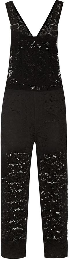 Nina Ricci Cotton-blend lace overalls