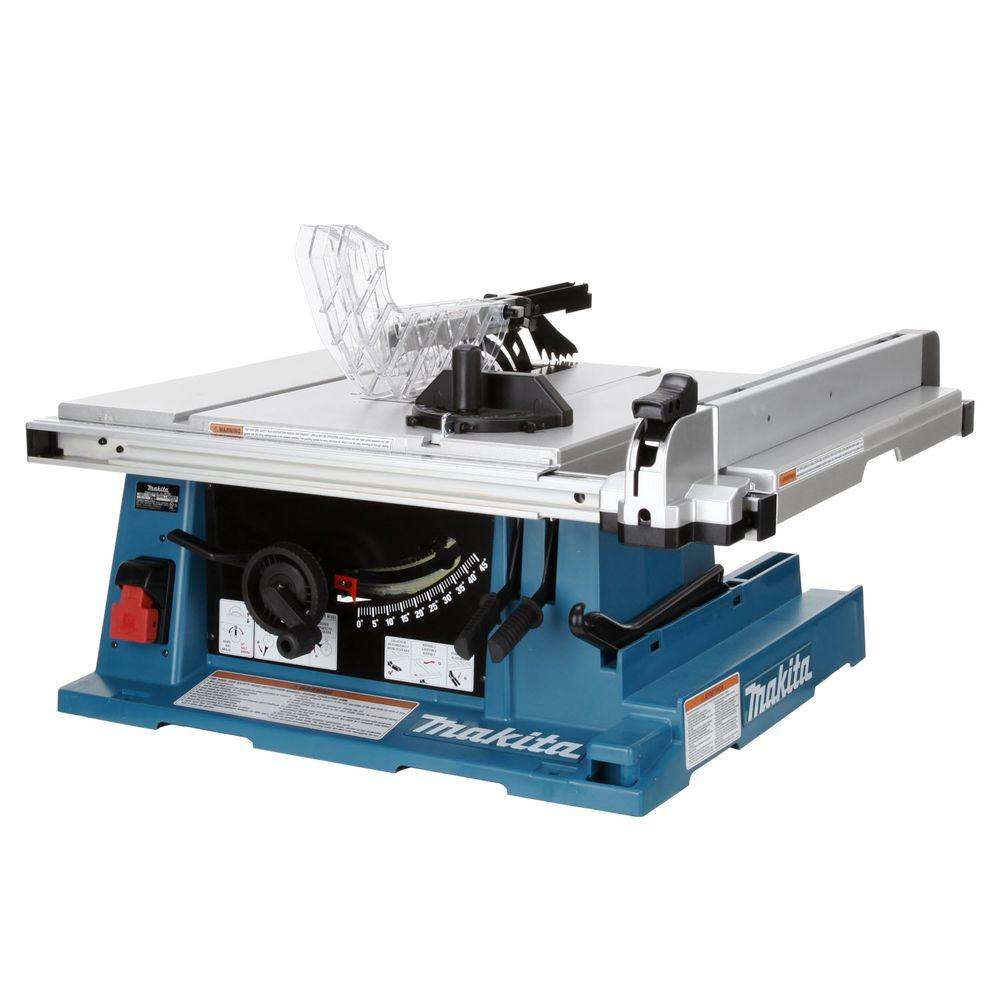 Makita 15 Amp 10 in. Corded Contractor Table Saw with 25 in. Rip ...