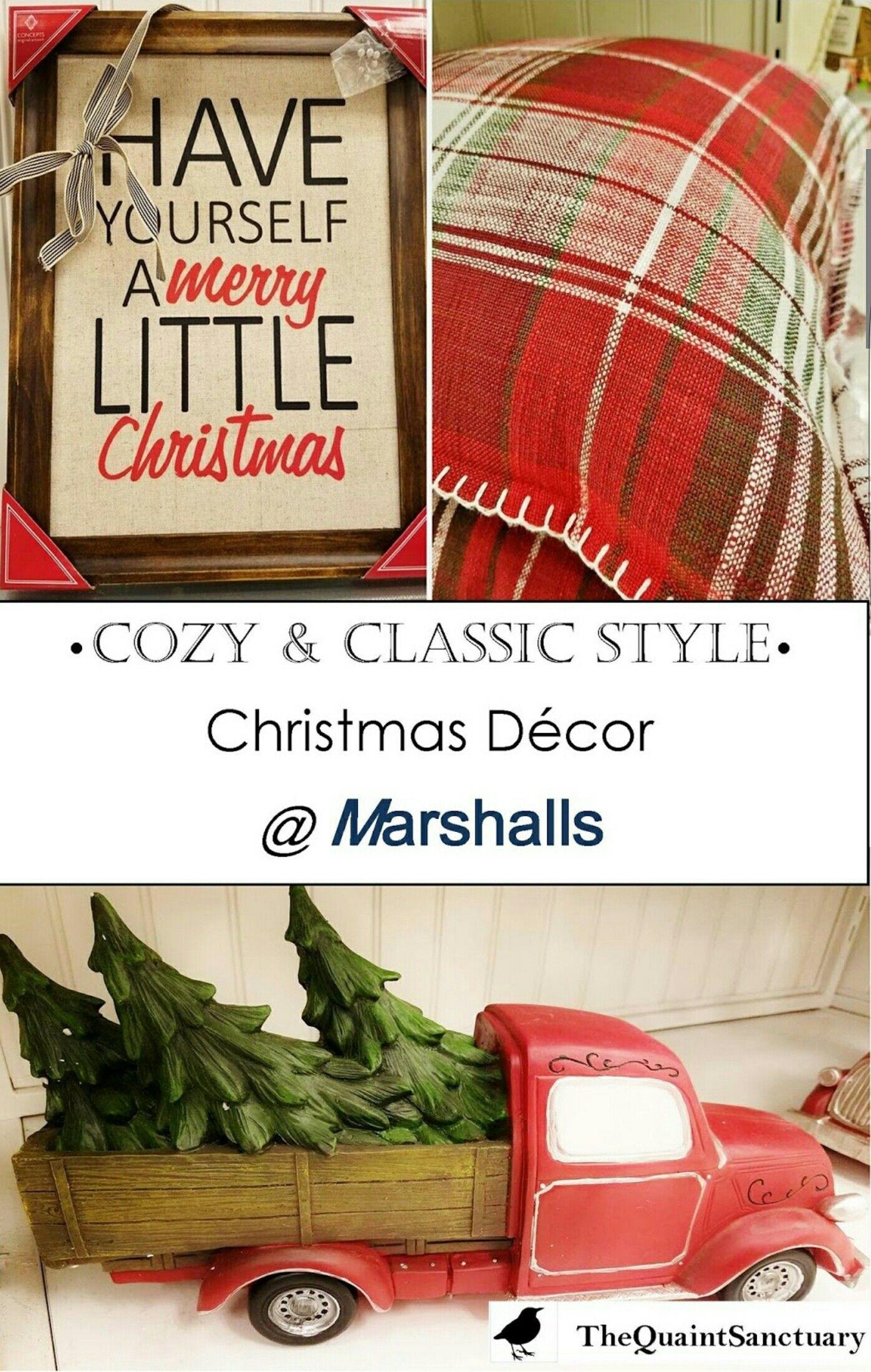 Cozy & Classic Christmas Decor from #MARSHALLS @MARSHALLS