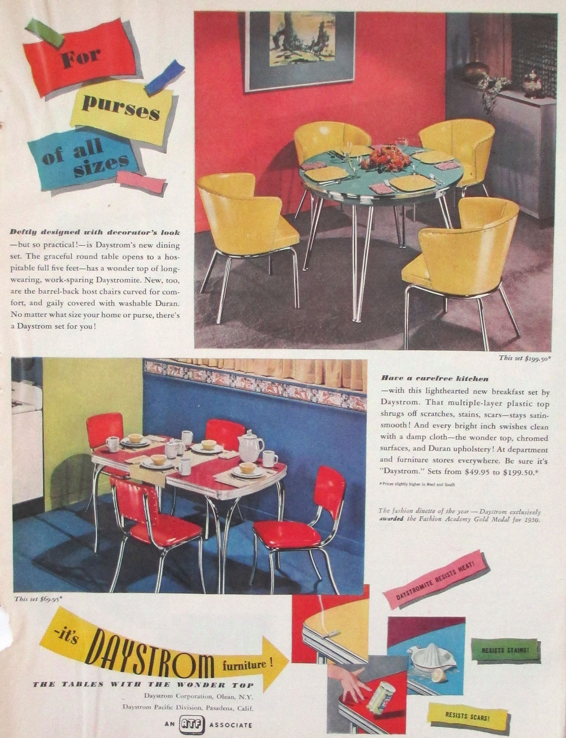 1950 Kitchen Furniture Daystrom 1950 Kitchen Chairs Retro Kitchens Pinterest