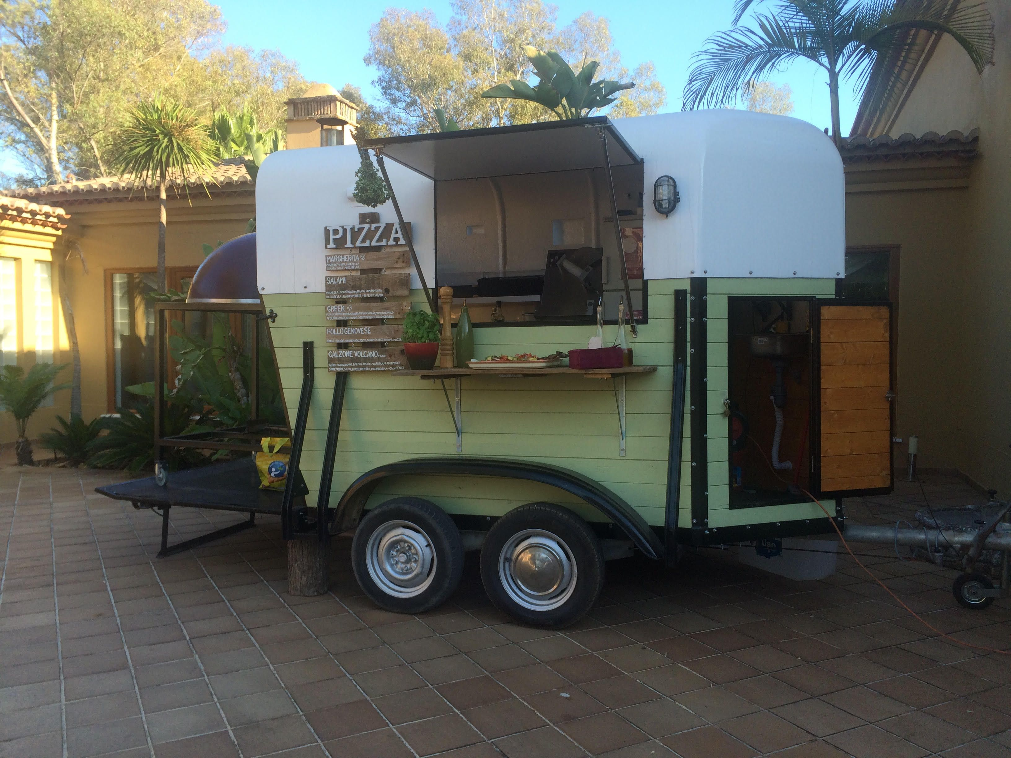 awesome food trucks little kitchen pizza trailer portugal