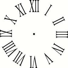 photo regarding Roman Numeral Stencil Printable identified as no cost clock encounter printables - Google Glimpse Do-it-yourself Clocks