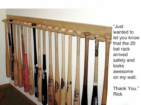 Vertical Style Baseball Bat Rack Office Baseball Bat