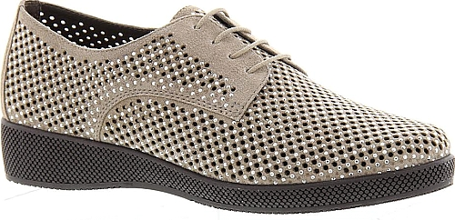 8b9ed04a4d Van Eli Women's Shoes in Taupe Color. This sleek style takes the casual lace -up into the special-occasion scene thanks to its all-over perfing and  splash of ...