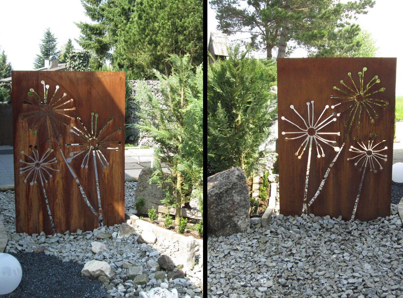 Bildergebnis Fur Sichtschutz Metall Rost Jardines