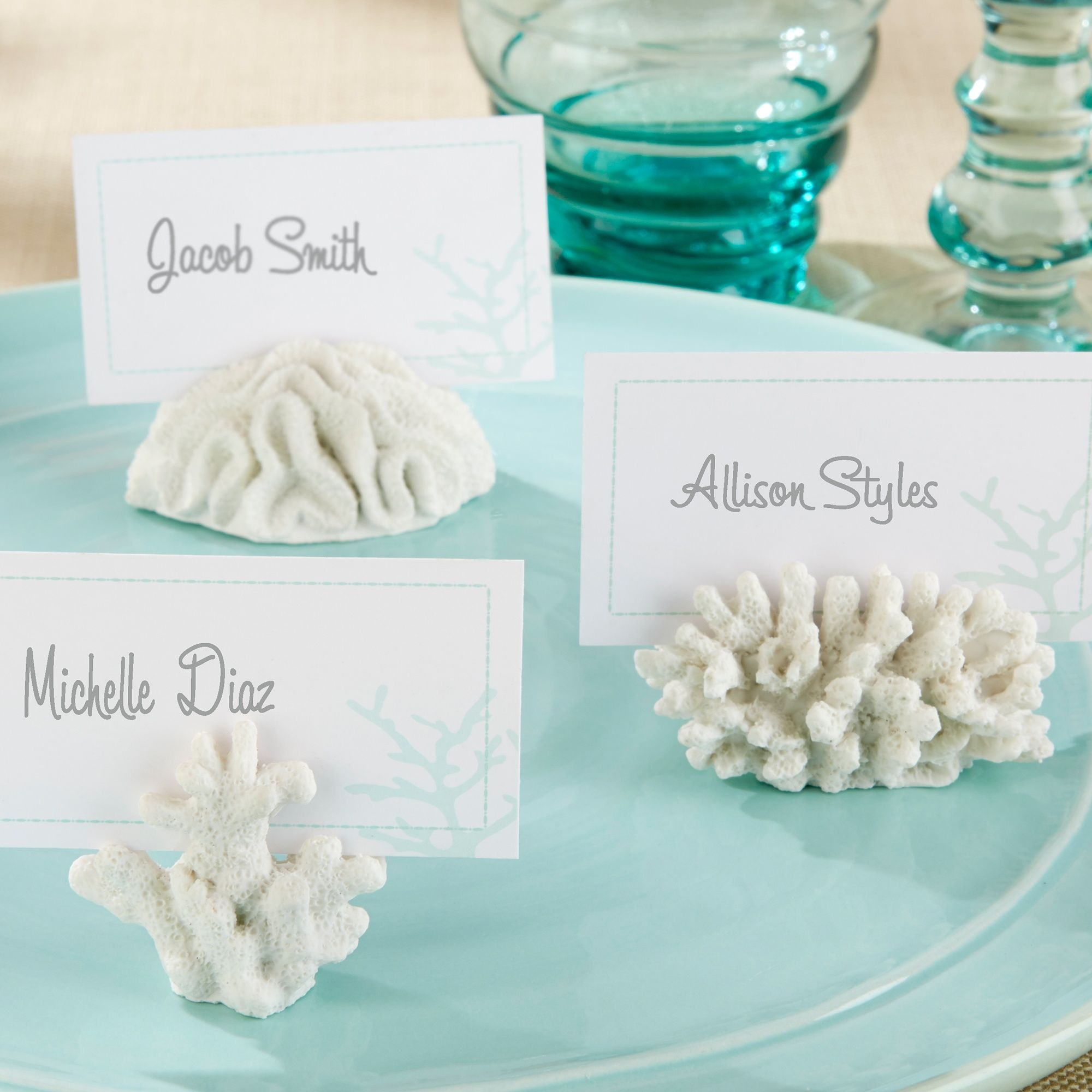 Coral Place Card Holder | #exclusivelyweddings | wedding favors ...