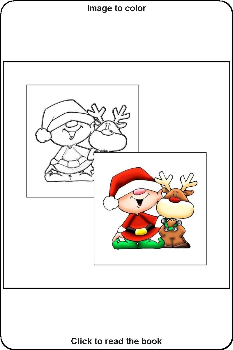 015 Sample Photo From The Book The Coloring Book Of Christmas Christmas Coloring Books Christmas Colors Christmas Drawing