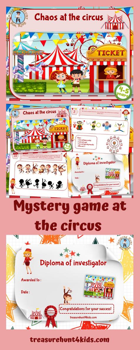 Detective jeu mystère au cirque (45 ans in 2020 Mystery