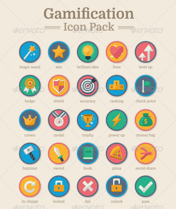 Beautiful Gamification Icon Pack! Gamification, Icon