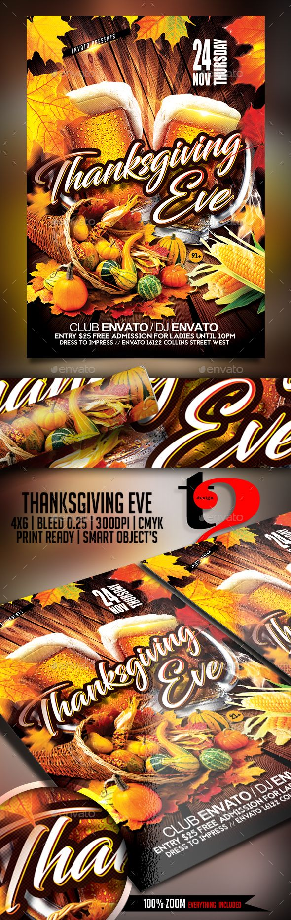 Thanksgiving Eve Flyer Thanksgiving eve, Christmas flyer