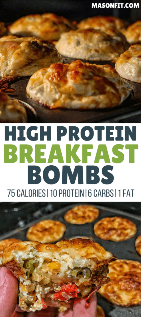 Healthy Breakfast Muffins: High Protein, Low Carb Cheesy Hash Brown Bombs