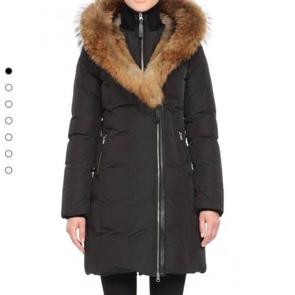 Mackage Coat - Trish F-4 Long Black - Fur Hood Trish-F4 by