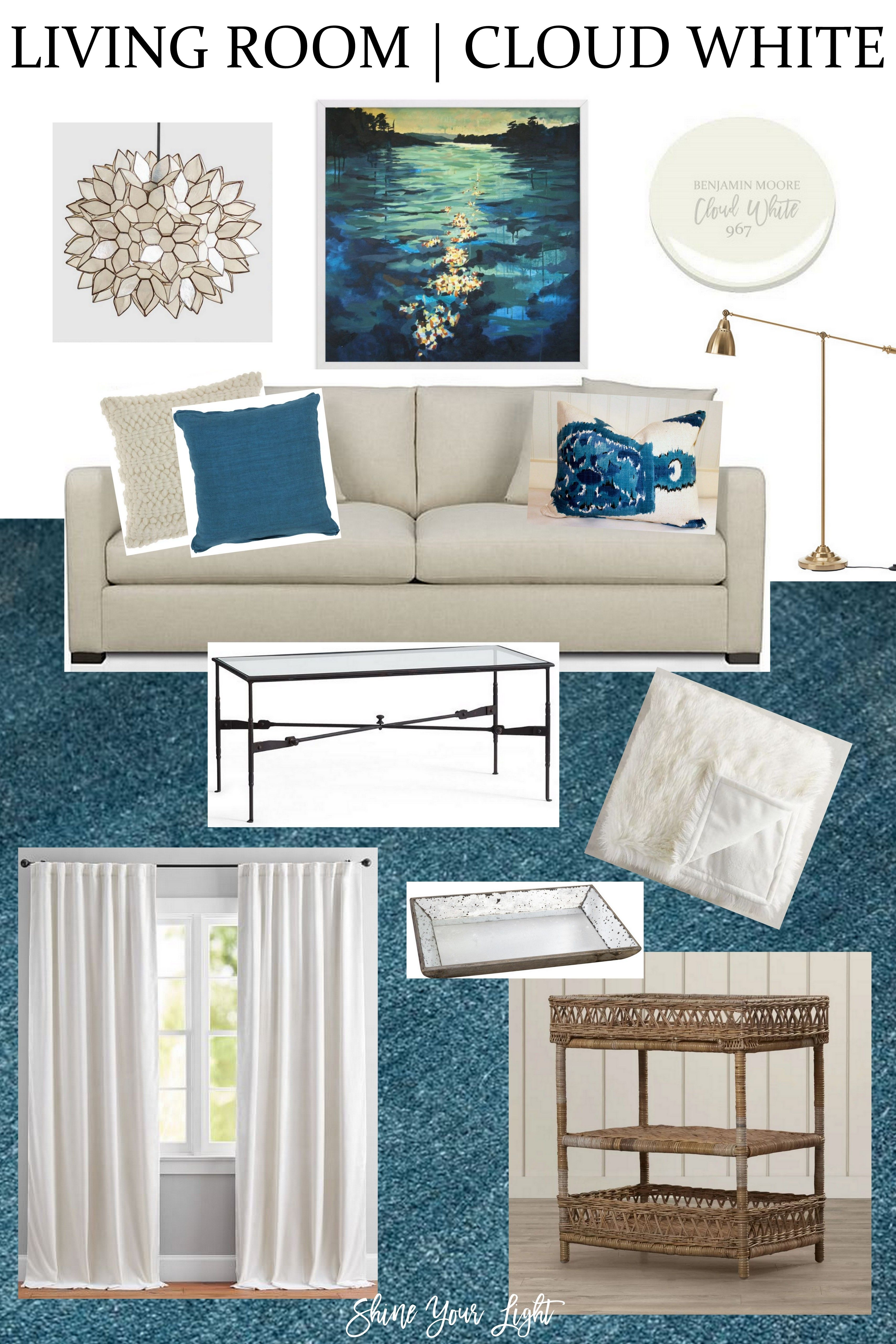 Living Room Design In Cream & Teal | Teal living rooms, Teal and ...