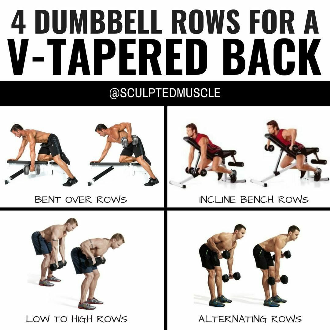 Pin By Magusa Venegas On Fitness Dumbbell Back Workout