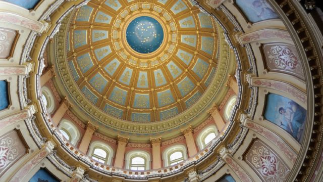 Inside the Capitol dome in Lansing. (credit: istock)