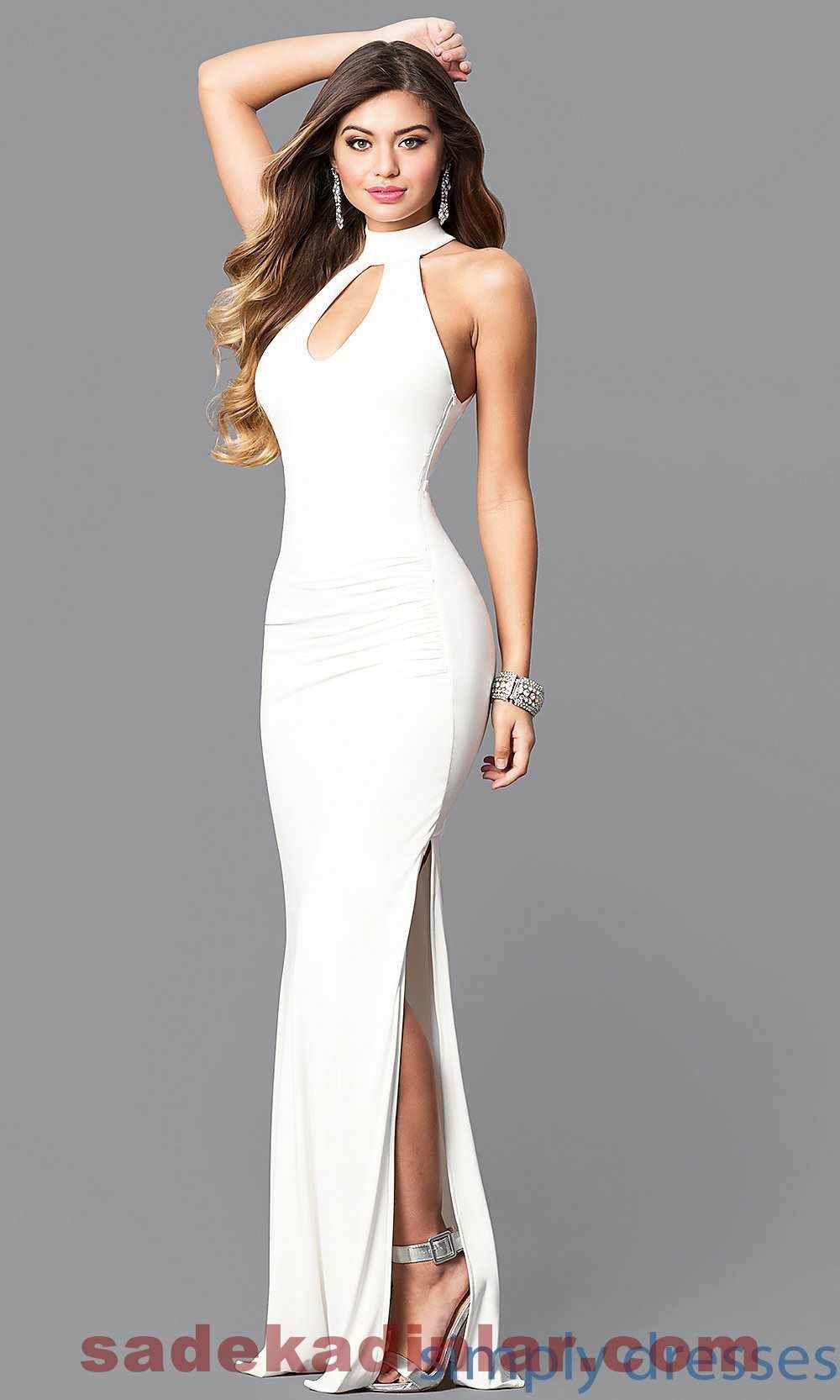 2020 Abiye Elbise Modelleri Son Moda Gece Elbiseleri Aksamustu Giysileri Beyaz Balo Elbisesi Elbise