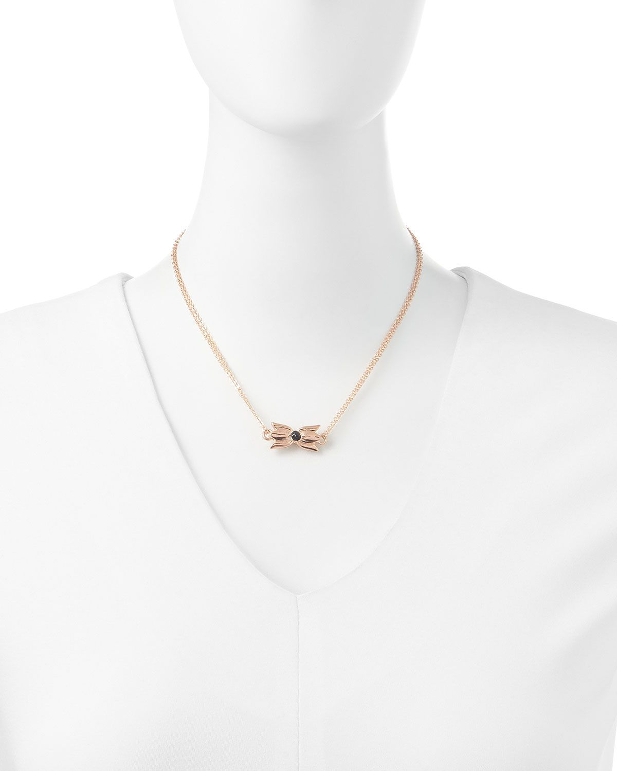 Tulip Necklace, Rose Gold