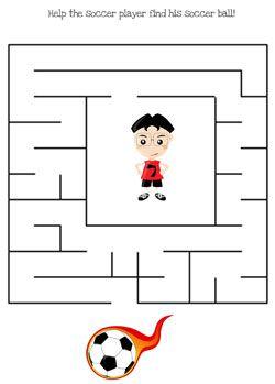 printable soccer maze games from soccer printables pinterest maze game. Black Bedroom Furniture Sets. Home Design Ideas