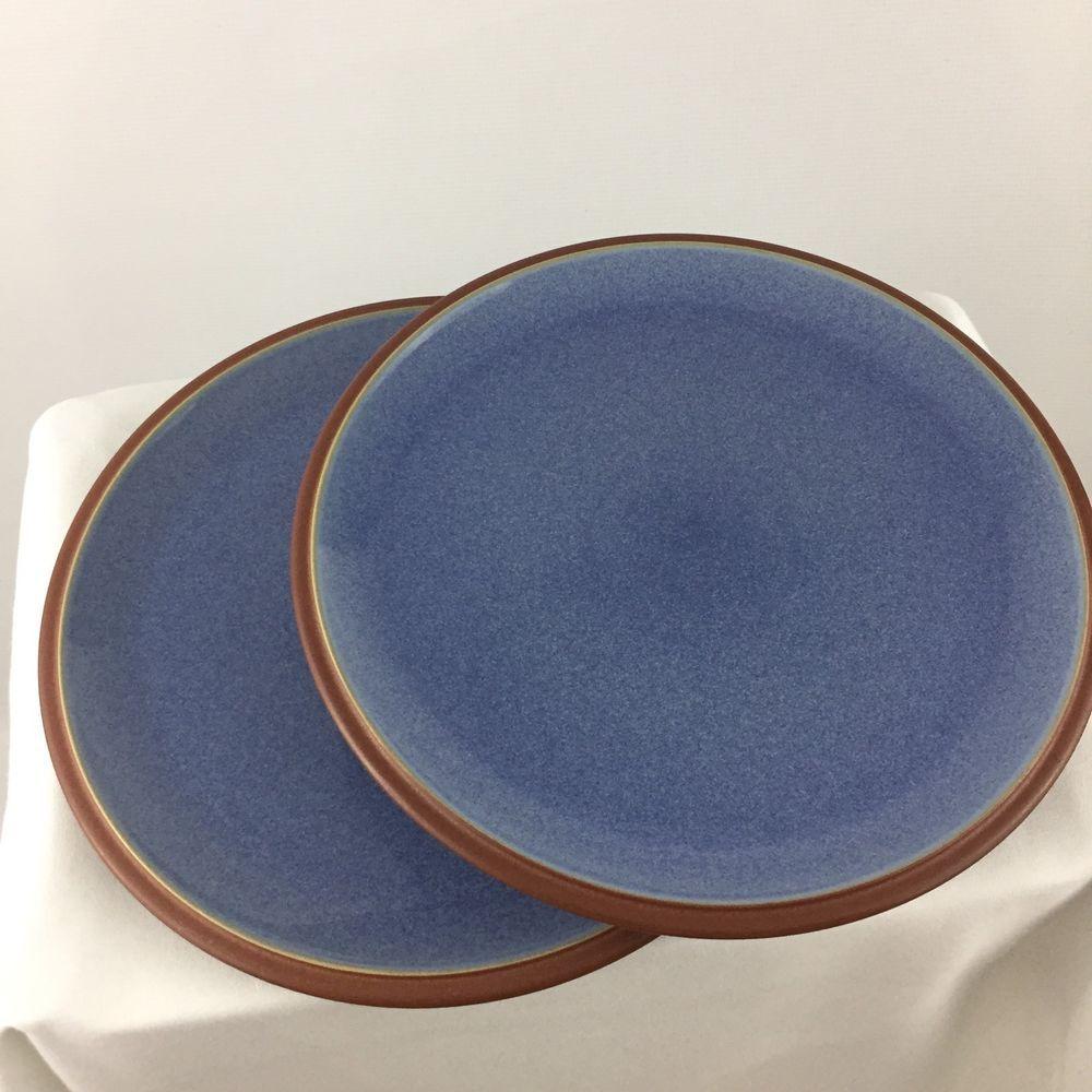 Lot Of 2 Denby Juice Berry Blue Dinner Plates 10.5in | Blue dinner ...