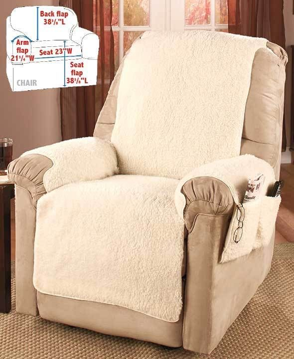 Stupendous Details About Extra Plush Sherpa Recliner Chair Slip Cover Theyellowbook Wood Chair Design Ideas Theyellowbookinfo