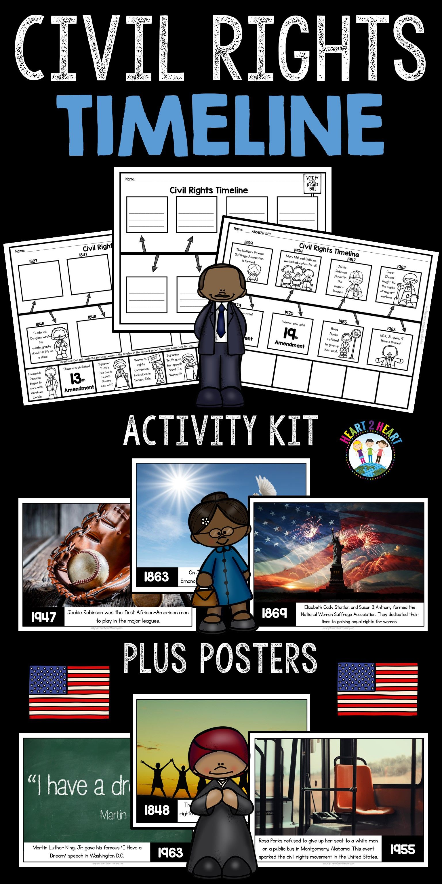 Civil Rights Timeline And Bulletin Board Kit