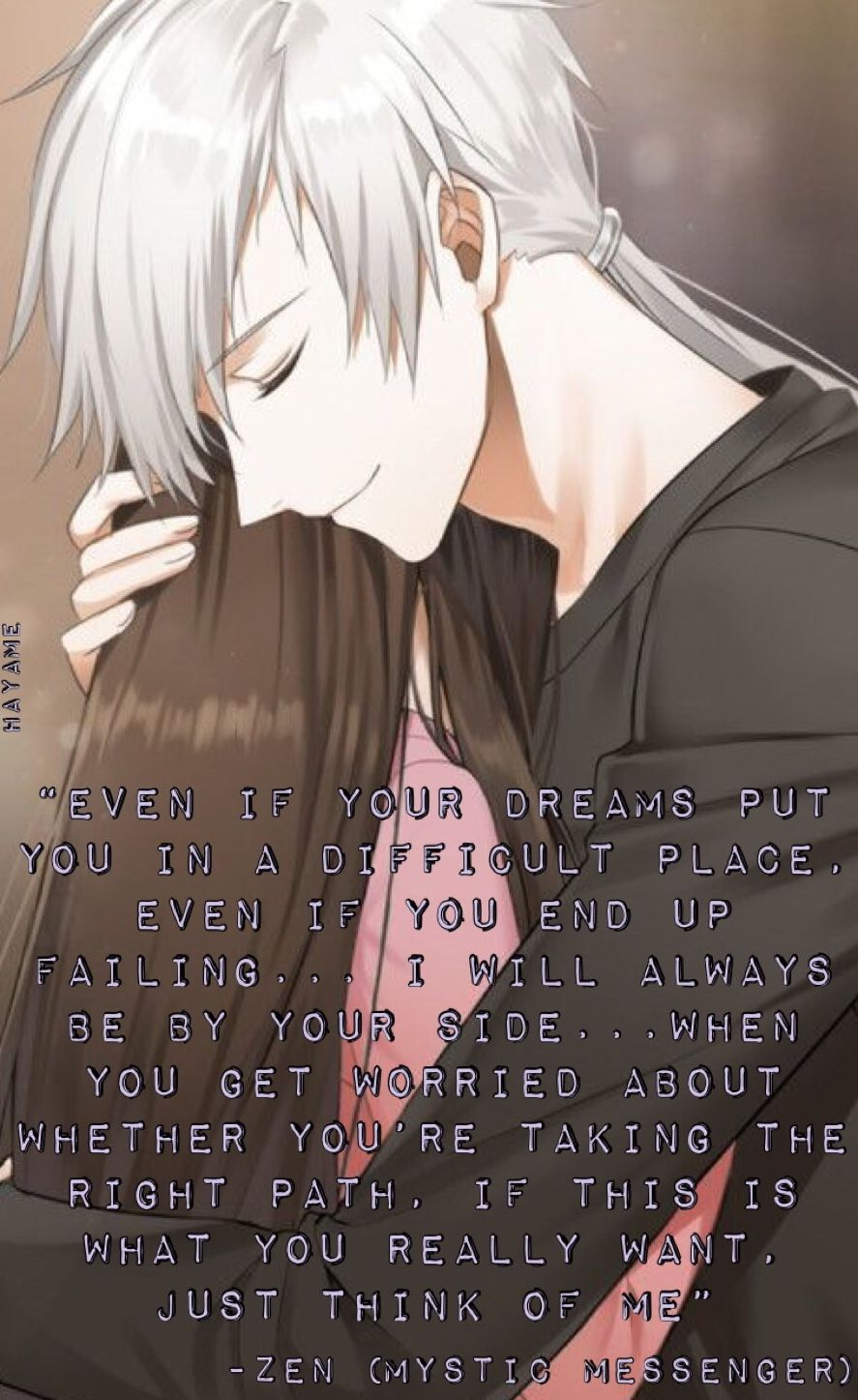 Zen Quote From Valentines Day Mystic Messenger Pinterest