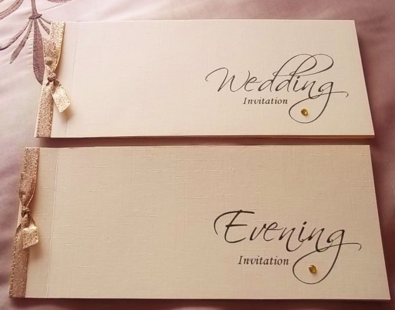 PERSONALISED CHEQUE BOOK STYLE WEDDING INVITATIONS | eBay | Wedding ...