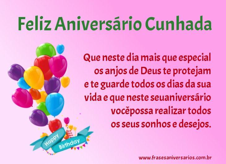 Mensagens De Aniversário Para Cunhada: Frases De Aniversário Para Cunhada: Feliz Aniversário Para