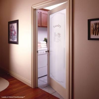 Feather River Doors 30 In X 80 1 Lite Laundry Smooth Primed Mdf