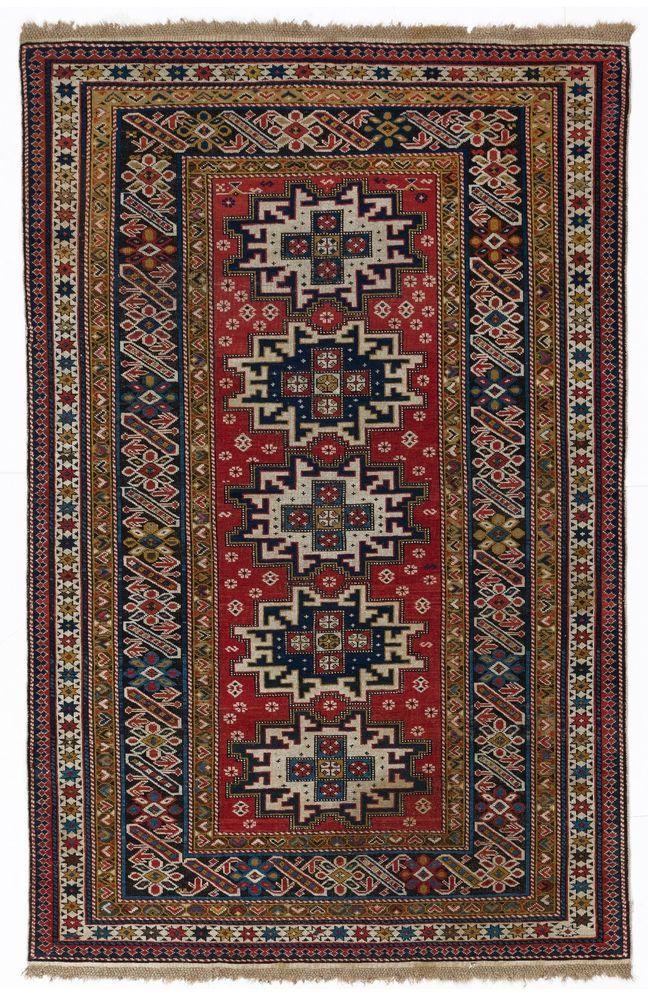 Antique Caucasian CHI CHI Rug. 122 x 190 cm, late 19th century