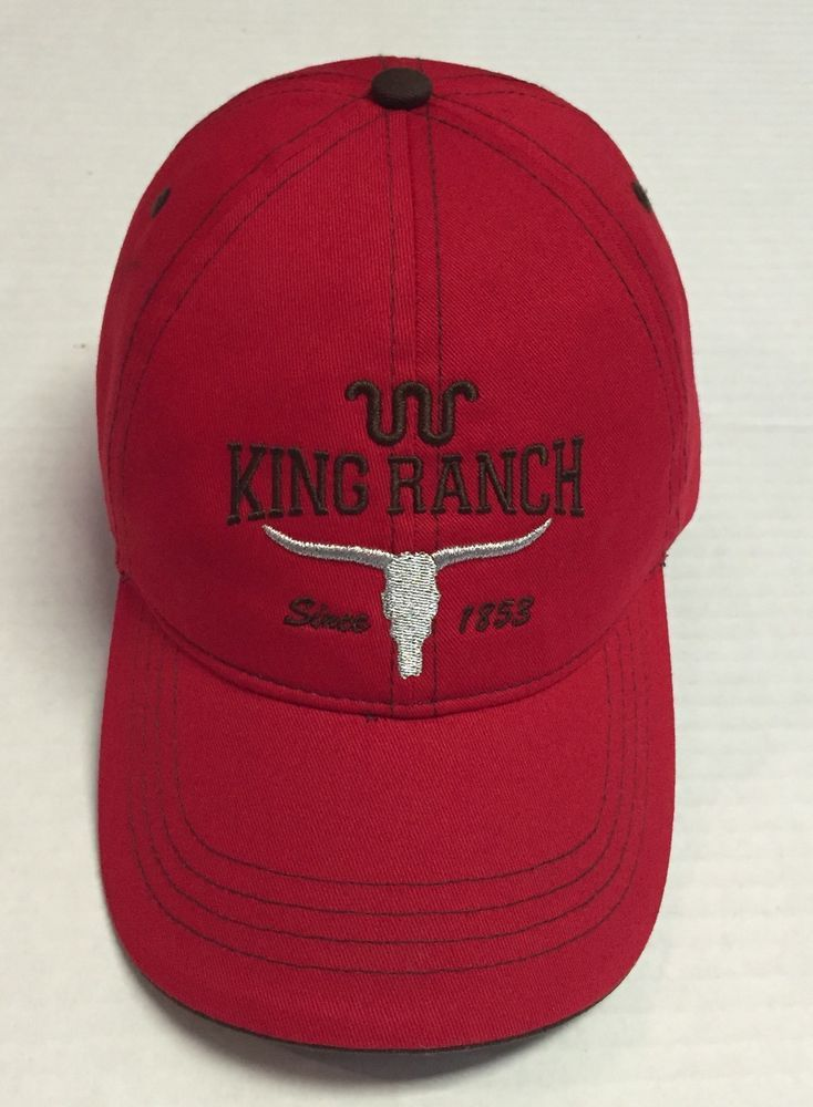 dff85dd9618 King Ranch Hat Since 1853 Baseball Cap Ranching Beat Up Red One Size Fits  Most