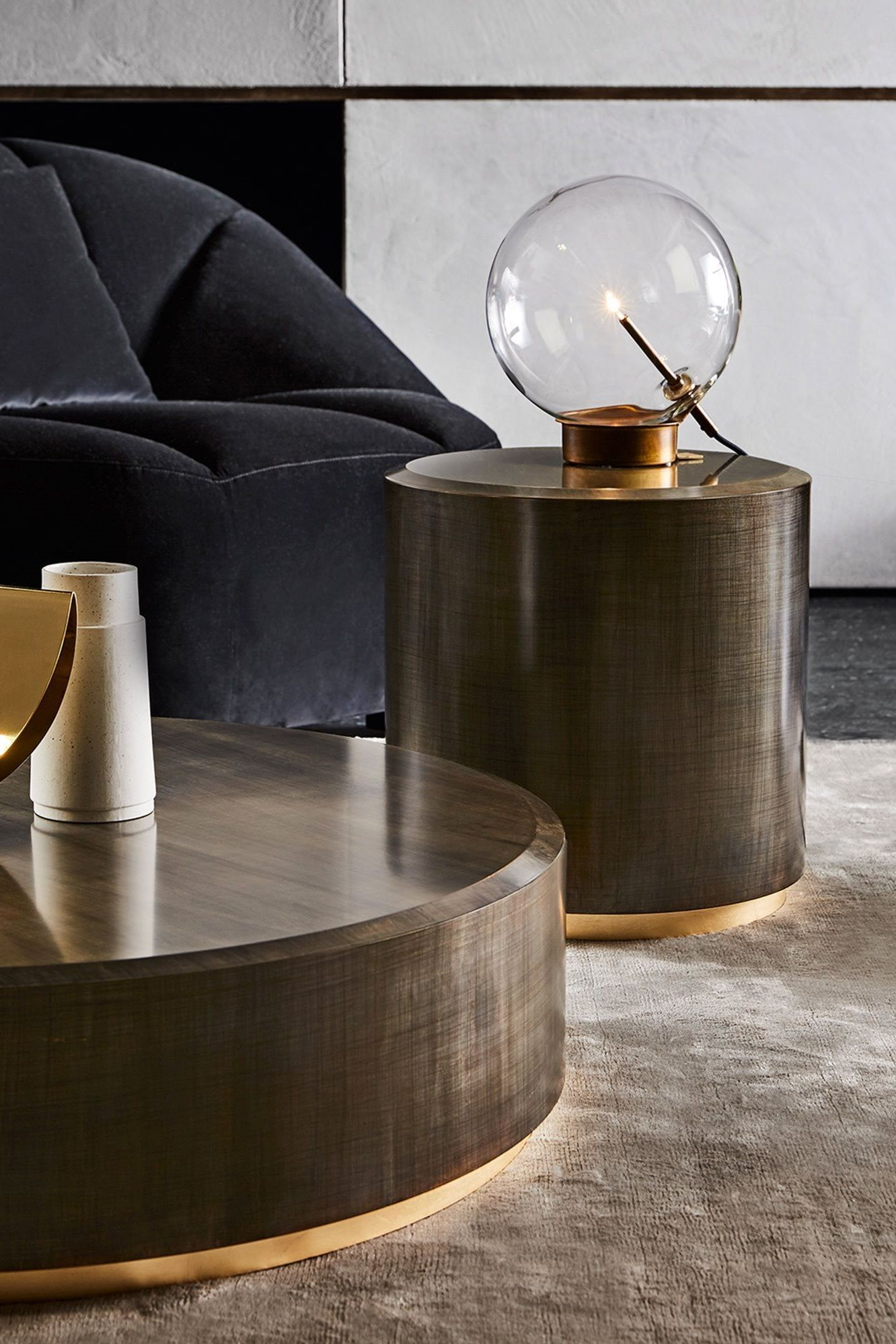 Gallotti Radice Gong Coffee Table By Studio G R Everything But Ordinary Round Wooden Coffee Table Table Lamp Wood Table Lamp Design [ 1996 x 1332 Pixel ]