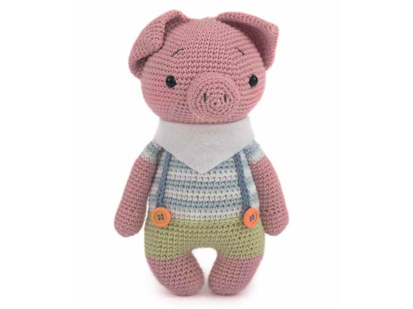 Häkelanleitung für ein süßes Schweinchen #dollhats