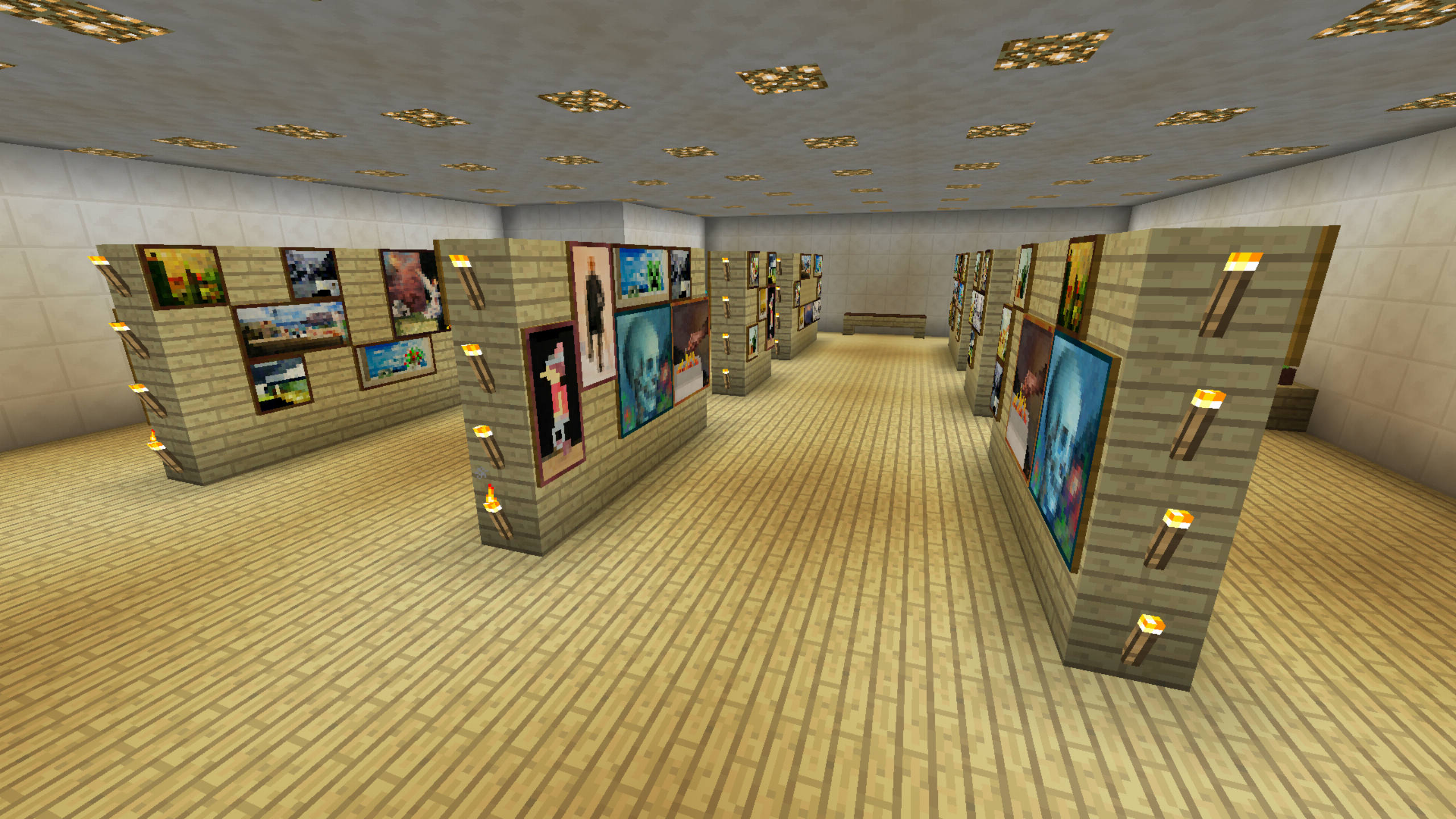 Minecraft Art Room Gallery