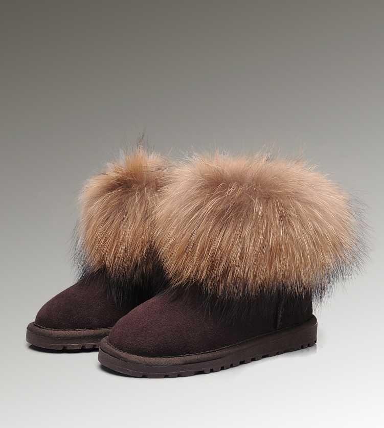 Cheap Uggs Fox Fur Mini 5854 Boots For Women [UGG UK 197