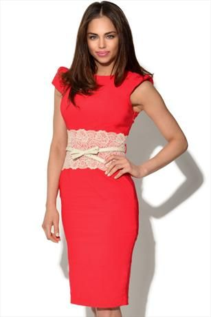 Just had to pin this Paper Dolls Lace Panel Dress from www.vestryonline.com/