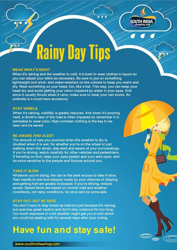 Rainy day tips Rainy day, Rainy, When it rains