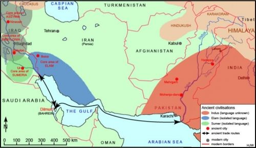 Indus River Valley Civilizations traded with people along the same