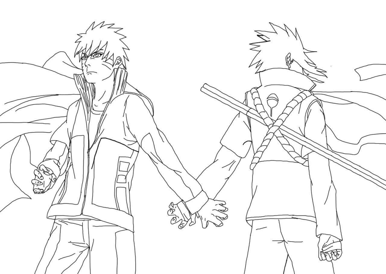Naruto And Sasuke United By Sora Shintaro On Deviantart Via Sora