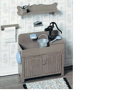 Dollhouse 1:12 Miniature Dry Sink Furniture Kit