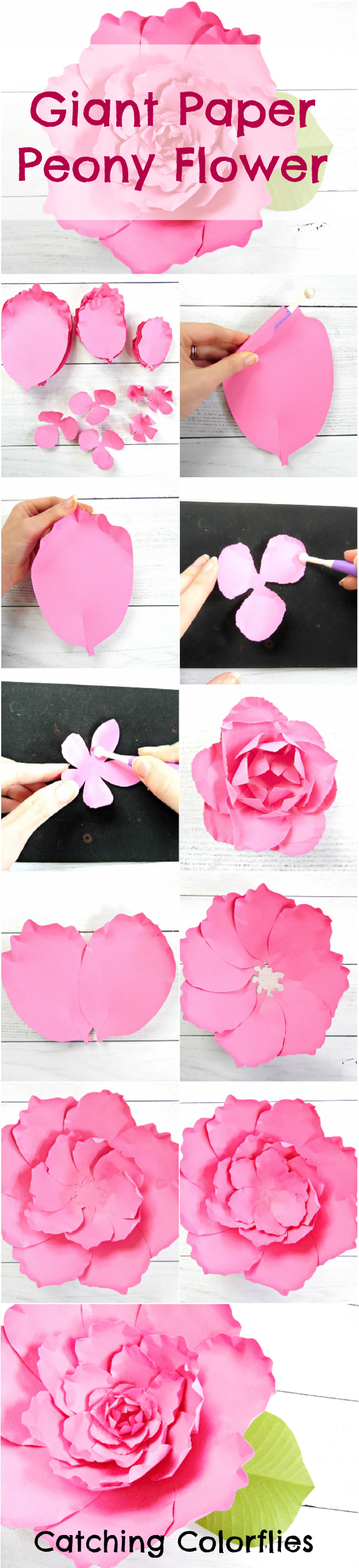 Giant Peony Paper Flower Tutorial Paper Decor Wedding Pinterest