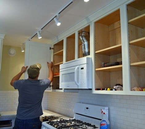 Hanging Kitchen Cabinet Doors with Concealed Euro Hinges ...