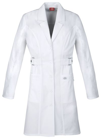"White Dickies Scrubs Gen Flex 36/"" Lab Coat 82410 DWHZ"