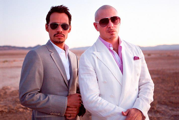 Two of my favorite! Pitbull and Marc Anthony