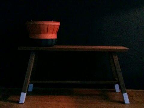 Vintage wooden basket dipdye petrol blue  More :www.restylevintage.nl