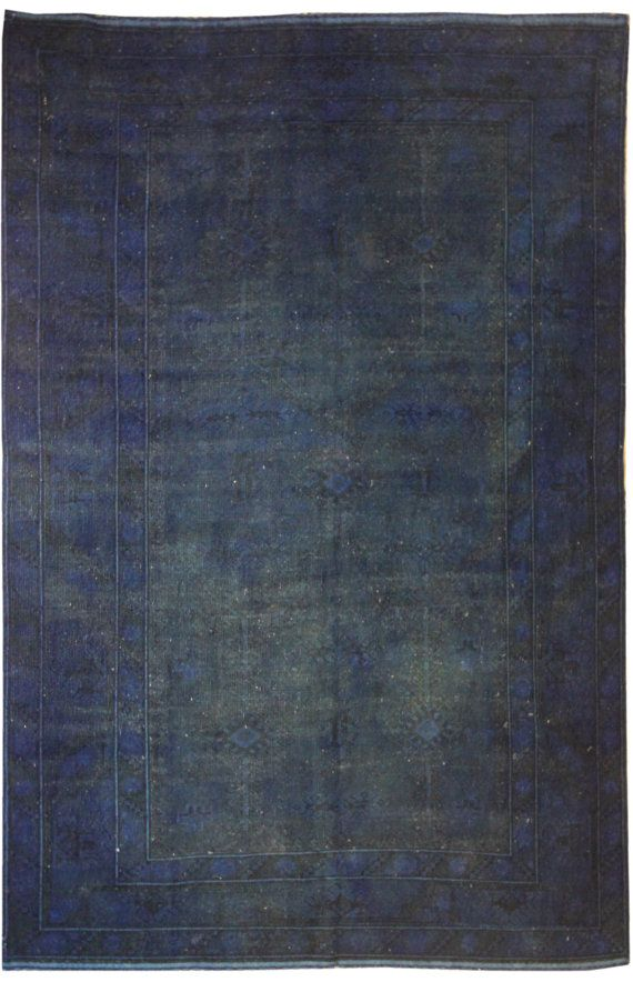 Navy Blue Rugs Vintage Over Dyed Rugs 9x6 Living Room Rugs