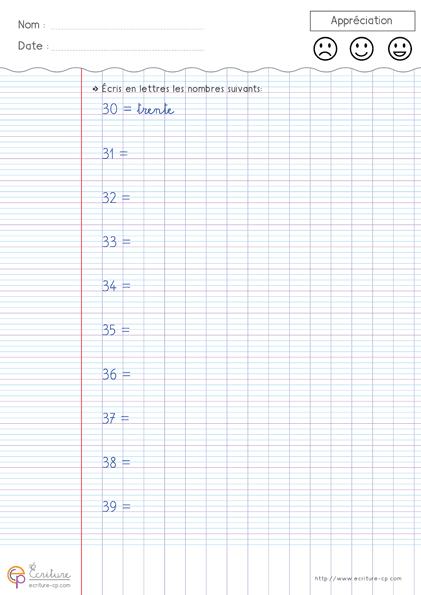 Extrem ecriture-cp-apprendre-acrire-les-nombres-en-chiffres-et-lettres-30  BW26