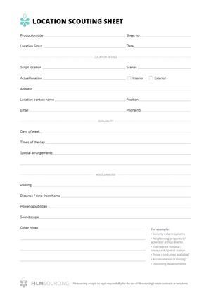 Talent release form for film Talent release form for film Treat - image release form